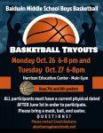 BHS Middle School Boys Basketball Information – BHS Athletics