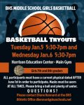 BHS Middle School Girls Basketball Information – BHS Athletics