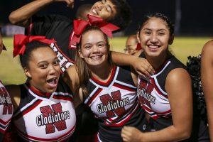Cheer vs Springbrook game