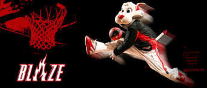 Trail Blazer's Mascot 'Blaze' Appearing at Half Time