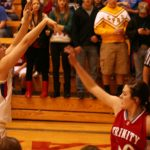 Cheney High School Basketball Varsity Girls falls to Trinity Catholic High School 41-48