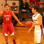 Cheney High School Basketball Varsity Boys beats Trinity Catholic High School 49-29