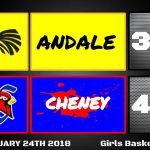 Girls Varsity Basketball beats Andale 40 – 34