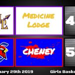 Cheney defeats Medicine Lodge 55-40