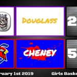 Cheney defeats Douglass 53-23