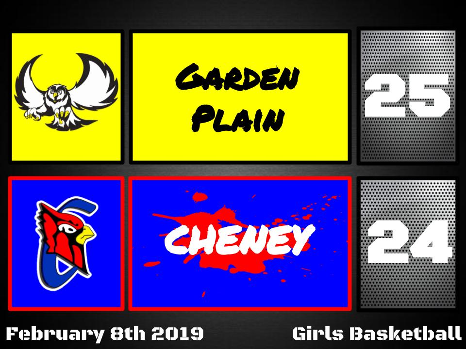 Lady Cardinals fall to Garden Plain 25-24