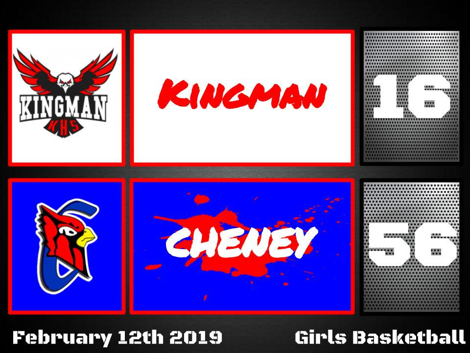 Lady Cardinals defeat Kingman 56-16