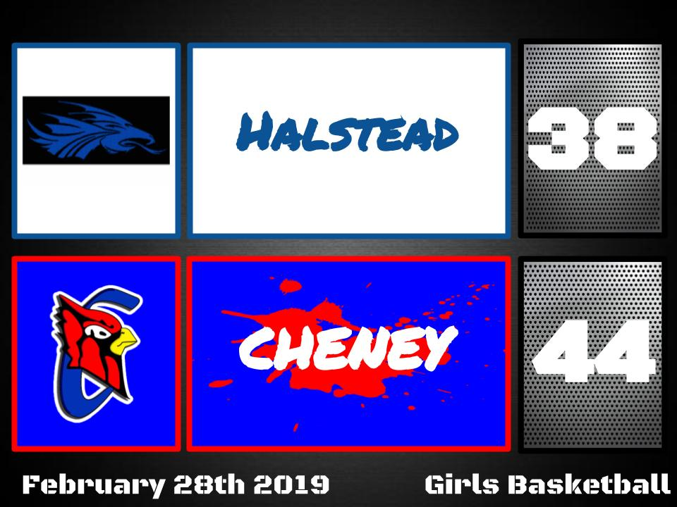 Cheney defeats Halstead 44-38