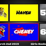 Lady Cardinals defeat Haven 60-52