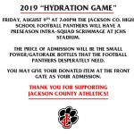 WANT TO HELP?  HYDRATION GAME IS COMING UP!