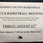 Interested in Men's Basketball? Meeting Friday Aug 23 7:40am in new gym