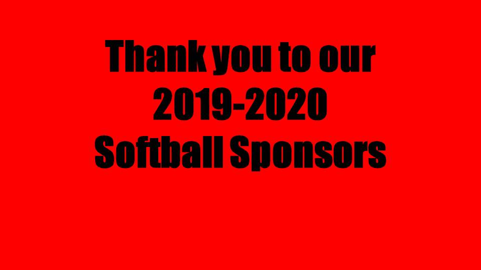 Thank You to our 2019-2020 Softball Sponsors