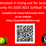 Interested in 2020-2021 Softball Season! Complete Tryout Information Form!