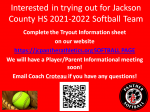 Interested in trying out for JCHS 2021-2022 Softball team! Complete Player Information Form!