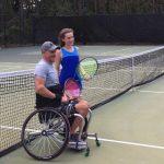 Girls Tennis Team volunteer and participate in wheelchair tennis event