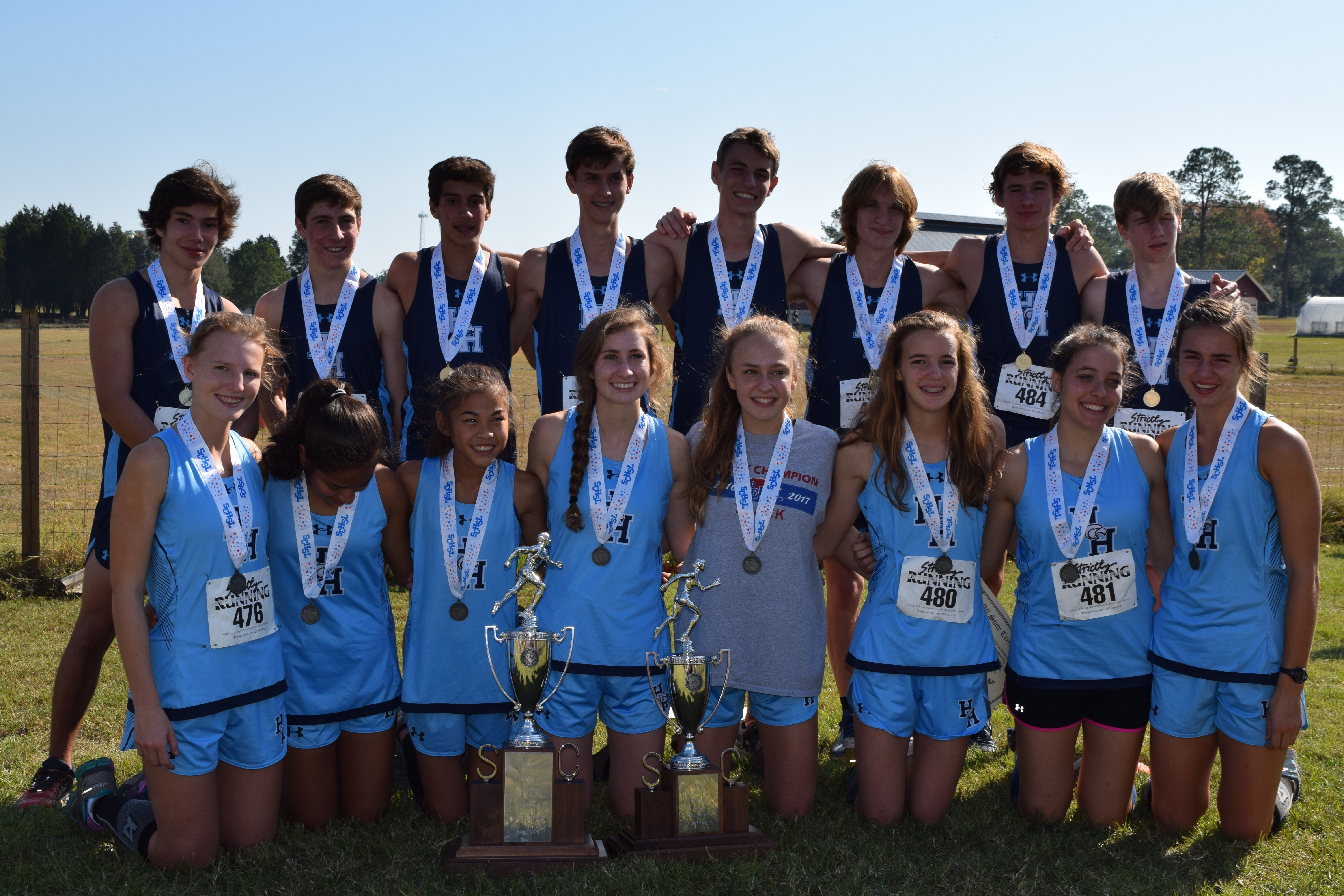 Boys XC 4A state Champs …..Girls 2nd Place in 4A