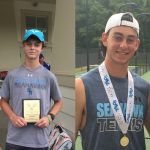 Matt Oliver wins Co-State Individual Tennis Championship and Davis Phillips earns SCHSL Sportsmanship Award