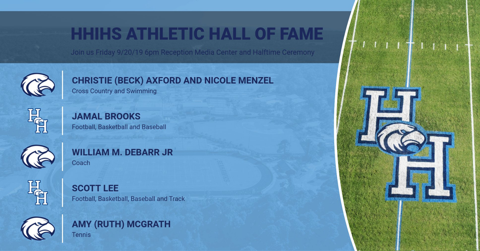 HHIHS Athletic Hall Fame Class of 2019