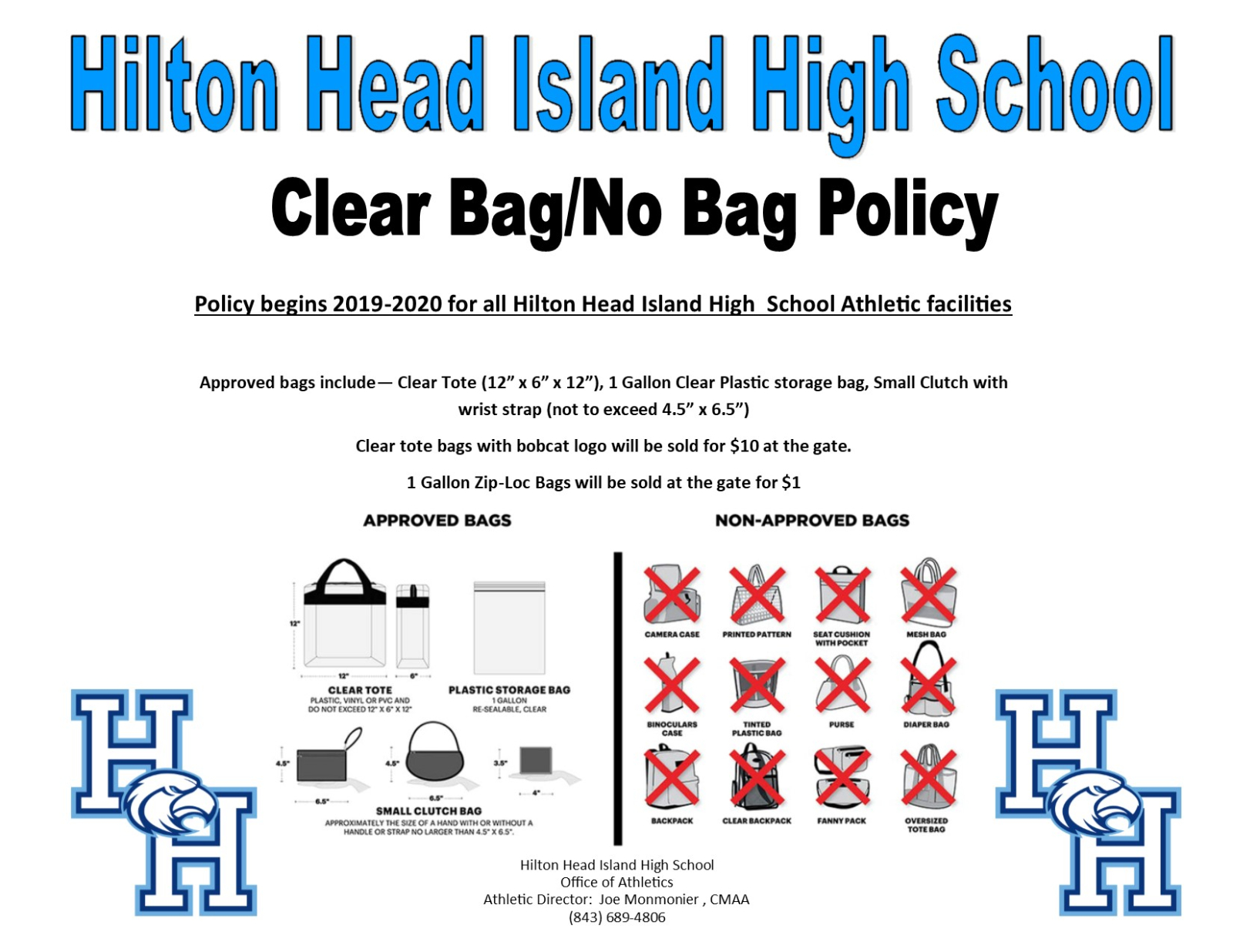 BCSD Clear Bag Policy for Athletic Events