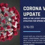 Corona Virus Update for Athletics 3/16/20