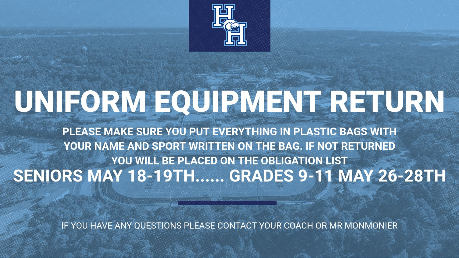 Information for Uniform Equipment Return