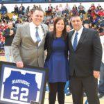 Erica Allenspach's #22 Jersey Retired