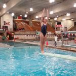 Evans Finishes 13th at State Diving Meet
