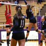 Miamisburg High School Girls Varsity Volleyball falls to vs Tecumseh HS 3-2