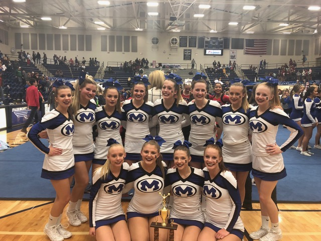 Varsity Competitive Cheer Team Finishes 2nd Place at GWOC Championships