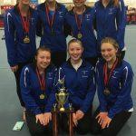 Girls Varsity Gymnastics finishes 1st place at (Oak Hills Invite)