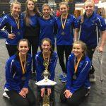 Girls Varsity Gymnastics finishes 1st place at (Elk Invite)