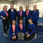 Girls Varsity Gymnastics finishes 1st place at (Springfield Central Catholic Invite)