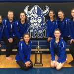 Girls Varsity Gymnastics finishes 1st place at (Dayton City Championships)