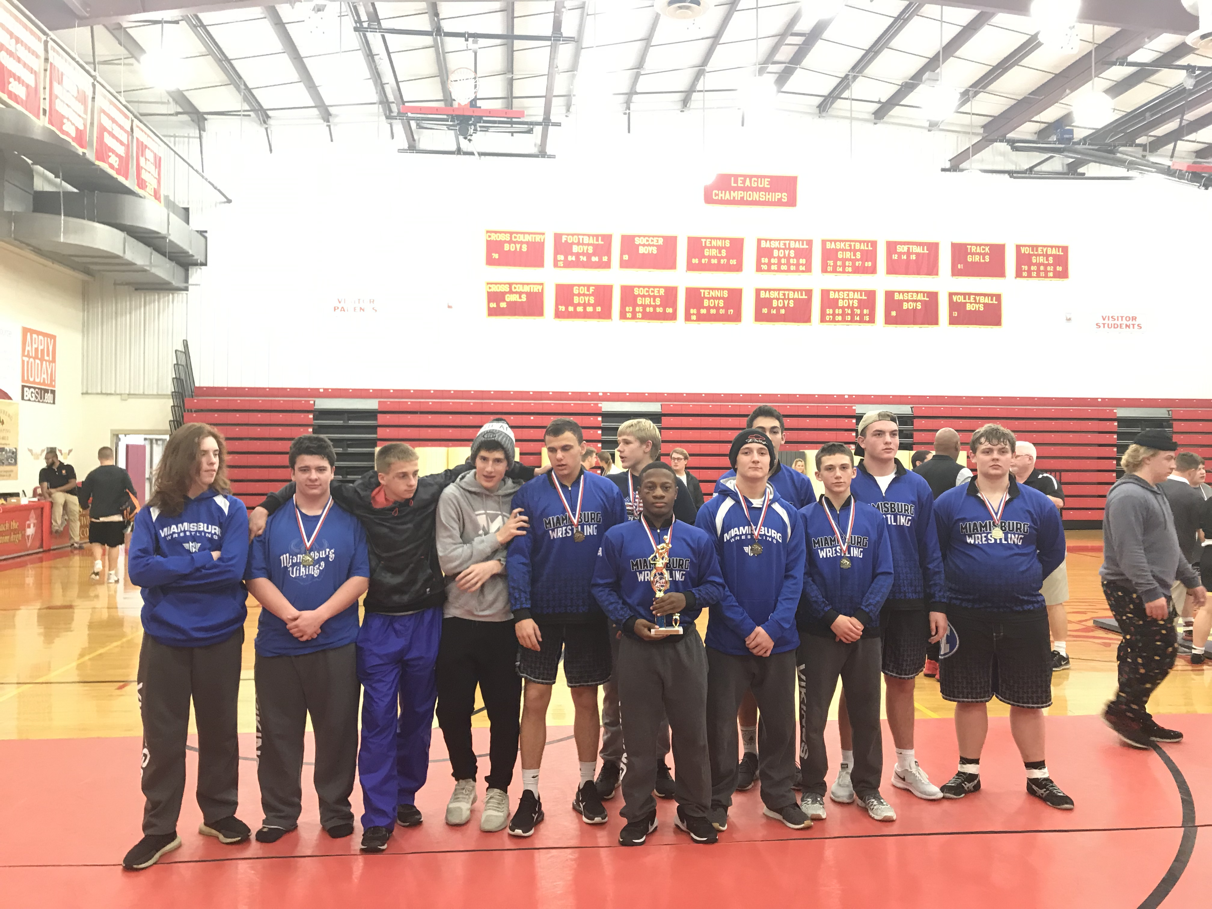 Boys Varsity Wrestling finishes 1st place at Bishop Fenwick Invitational