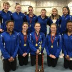 Girls Varsity Gymnastics Team finishes 1st place at Oak Hills Invitational
