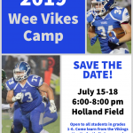 2019 Wee Vikes Football Camp