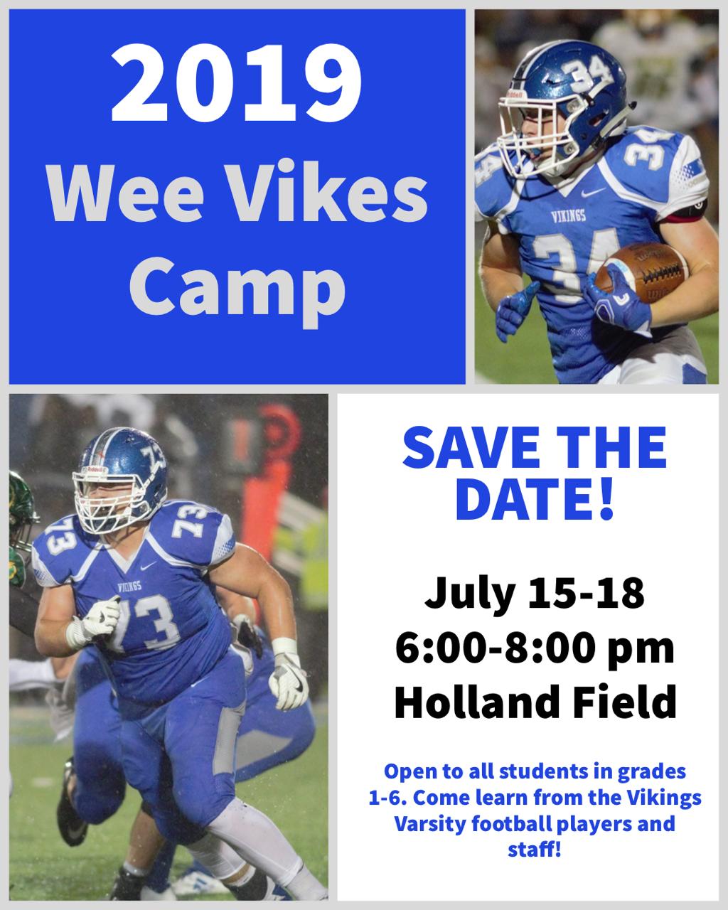 2019 Wee Vikes Football Camp