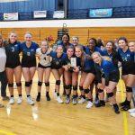 Girls Varsity Volleyball beats Lakota West 2 – 1 in Championship of Miamisburg Invite
