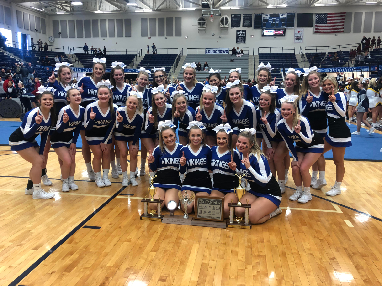 Miamisburg Game Day/Comp Cheer Squads Take Share of GWOC Championship