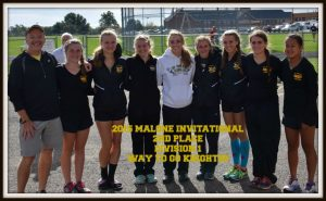 GIRLS CROSS COUNTRY 2ND IN DIVISION 1 RACE AT MALONE INVITATIONAL