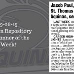Canton Rep XC Runner of the Week 9/26/15