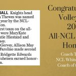 Volleyball All-NCL Honors Congratulations!