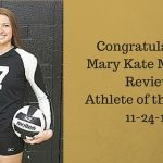 Congratulations Mary Kate McHugh – Review Athlete of the Week 11-24-15