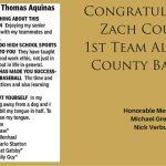 Zach Courter 1st Team All-Stark County Baseball