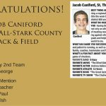 Jake Caniford Boys Track 1st Team All Stark County