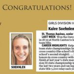 Congratulations Kalee Soehnlen Rep Runner of Week 9-9-16