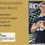 Old Carolina BBQ Football Player of the Week 9-23-15