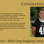 Kyle O'Connor – Rubio Camp Long Snapper Stand Out