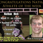 Nathan Rich Week 11 Athlete of the Week