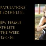 Kacee Soehnlen – Review Athlete of Week 12-1-16